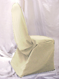 Ivory Linen Chair Cover